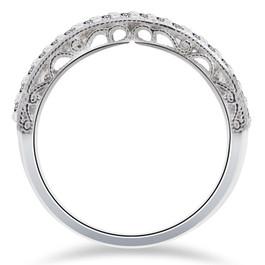 1/2 ct Vivian Lab Created Diamond Wedding Ring 14k White Gold (F, VS)