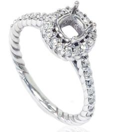 5/8ct Braided Engagement Ring Setting 14K White Gold (G/H, I1)