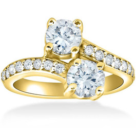 2 Ct Forever Us 2 Stone Diamond Ring 14k Yellow Gold (H/I, I2)