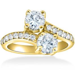 2 Ct Forever Us 2 Stone Diamond Engagement Ring 14k Yellow Gold (H/I, I2)