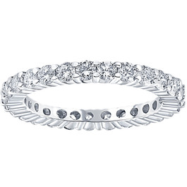 1cttw Diamond Eternity Wedding Ring 14k White Gold (I/J, I2-I3)