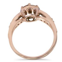 1ct Vintage Morganite & Diamond Ring 14K Rose Gold (H/I, I1-I2)