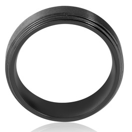 Mens 9mm Titanium Black Comfort fit Brushed Wedding Band