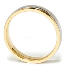 Ladies Platinum & 18k Gold Two Tone Comfort Fit Wedding