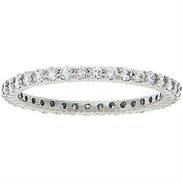 3/4ct Diamond Eternity Ring 14K White Gold (G/H, I1)