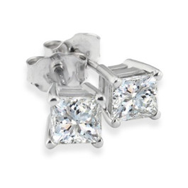 1 1/4ct Diamond Studs 14K White Gold (G/H, SI2/SI3)