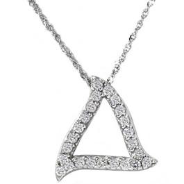 1/4ct Fancy Pave Diamond Curvy 14K White Gold Pendant (G/H, SI3)