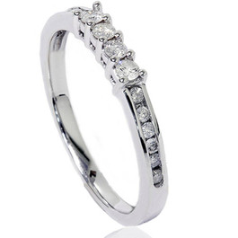 1/3ct Diamond Wedding Ring 14K White Gold (G/H, I2)