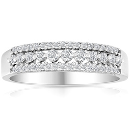 1/4 carat Diamond Wedding Ring 10 KT White Gold (G/H, I2-I3)