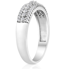 1/4 carat Diamond Wedding Ring 10 KT White Gold (G/H, I2-I3)