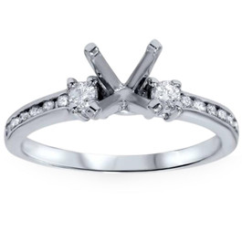1/3ct Diamond Engagement Ring Semi Mount 14K White Gold (G/H, I1-I2)