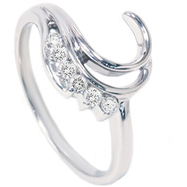 1/4ct Diamond Ring Enhancer 14K White Gold (G/H, I1)