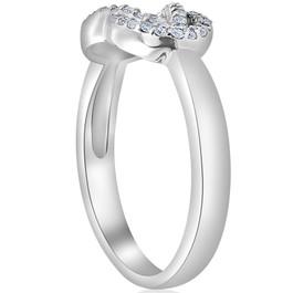 1/4ct Diamond Womens Knot Everlong 14K White Gold Right Hand Band Ring (G/H, I2/I3)