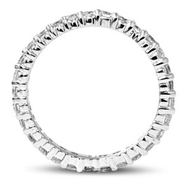 1ct Prong Lab Grown Diamond Eternity Ring 14K White Gold ((I-J), VS)