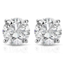 1 1/2ct Diamond Studs 14K White Gold (G/H, I2-I3)
