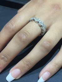 1 1/2ct Pave Diamond Wedding Stackable Ring 14K White Gold (G/H, SI1-SI2)