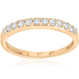 1/2ct SI Diamond Wedding Ring 14K Yellow Gold (G/H, I1)