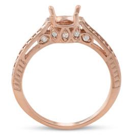 1/5ct Diamond Rose Gold Engagement Ring Setting Vintage (G/H, I2)