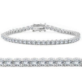 4ct Diamond Tennis Bracelet 14K White Gold (G-H, SI)