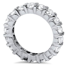 3ct Real Diamond Eternity Wedding White Gold Ring (G/H, I1)