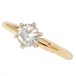 14k Yellow Gold 3/4ct Round Solitaire Diamond Engagement Ring (G/H, I1)