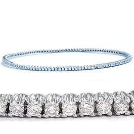 14K White Gold 1 5/8ct Diamond Bangle Cuff Bracelet (G/H, I2)