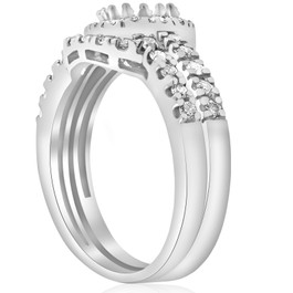 1/2ct White Gold Diamond Engagement 14K Ring Setting (G/H, I2)