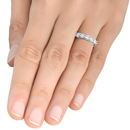 1/2ct Diamond Wedding Five Stone Ring 14k White Gold ((G-H), SI(1)-SI(2))