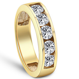 1 1/4ct HUGE Diamond Wedding Anniversary Ring 14K Gold (H, I1)