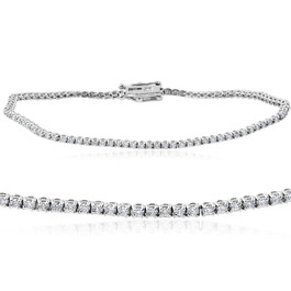 "1 1/2 cttw Diamond Tennis Bracelet 14k White Gold 7"" (H, I1-I2)"