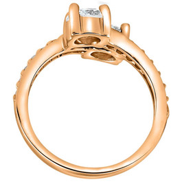 2 cttw Forever Us 2-Stone Diamond Engagement Forever Us Ring 14k Rose Gold (G/H, I1-I2)