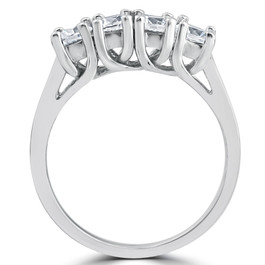 1ct Diamond White Gold Curve Wedding Ring Enhancer (G, I1)