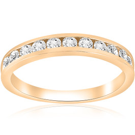 1/2 cttw Diamond Channel Set Wedding Ring 10k Yellow Gold (H-I, I1-I2)