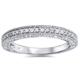 3/4ct Diamond Ring 14K White Gold (H/I, I2-I3)