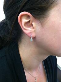 5/8ct Diamond Earrings White Gold (Not Enhanced) (H, I2-I3)
