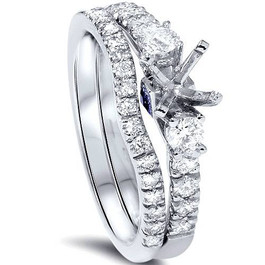 1/2ct Diamond Engagement Ring Setting Set 950 Platinum (G/H, SI1-SI2)