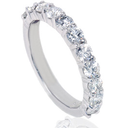 1 5/8ct Diamond Half Eternity Ring 14K White Gold (G/H, I1)