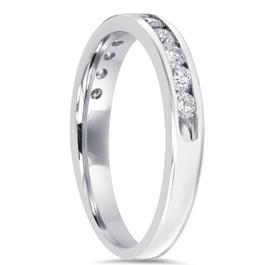 1/2CT Diamond Wedding Ring 10K White Gold (H/I, I2-I3)