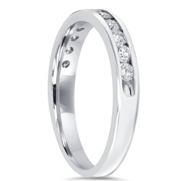 1/2CT Diamond Wedding Ring 10K White Gold (H/I, I2-I3)