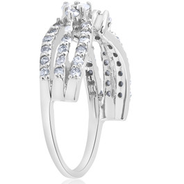1/2ct Diamond Guard Wrap Ring 14K White Gold (G/H, I1-I2)