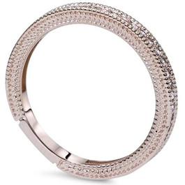 VS 1/5ct Vintage Diamond Wedding Milgrain Ring 14K Rose Gold (F, VS)