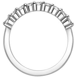 1/2 Carat Lab Grown Diamond Ring 14K White Gold (E/F, VS)