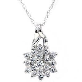 1/3ct Promise Diamond Pendant 14K White Gold (G/H, I1-I2)