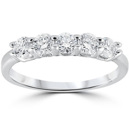 1/2ct Diamond Wedding Ring 14K White Gold (G/H, I1)