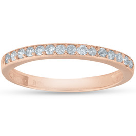 1/4ct Diamond Ring in 14k White, Yellow, or Rose Gold (H/I, I2)