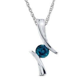 Blue diamond pendant 12ct blue diamond solitaire pendant 14k white gold 34 tall audiocablefo