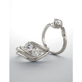 5/8cttw 2-Stone Diamond Engagement Wedding Ring Set Forever Us White Gold (I/J, I2-I3)