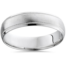 10K Mens 6mm Brushed Comfort Fit Wedding Band