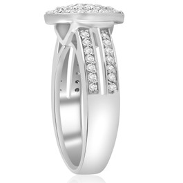 1 cttw Diamond Double Halo Engagement Ring 10K White Gold (H/I, I1-I2)