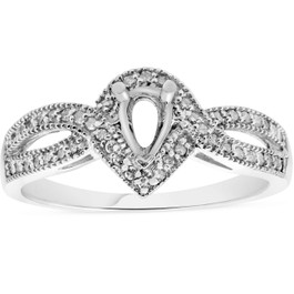 1/5ct Pear Shape Diamond Engagement Ring Setting Mount (G/H, I1)